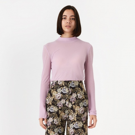 Alana Polo Neck Top - Dusty Pink