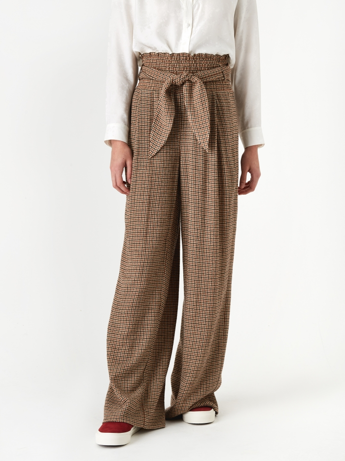 Nanushka Private Trouser - Check (Image 1)