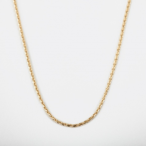 Filed Round Spiga Chain 60cm - 9k Yellow Gold