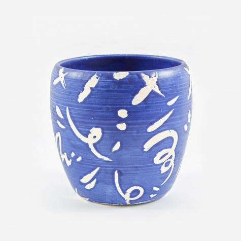 Medium Plant Pot - Indigo