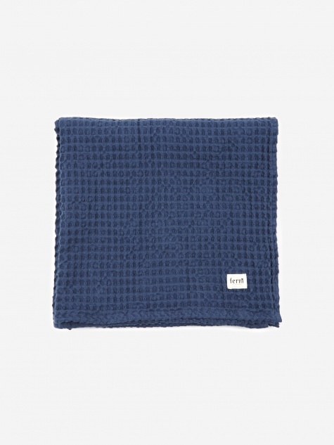 Organic Bath Towel - Blue