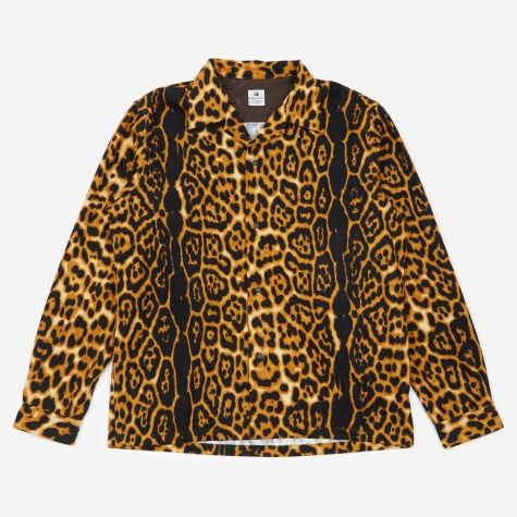 Animal Print Flannel Shirt - Leopard
