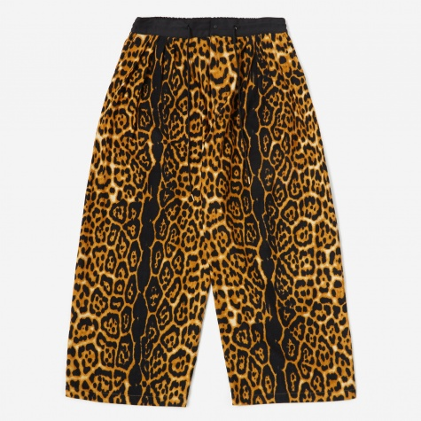 Animal Print Flannel Trouser - Leopard