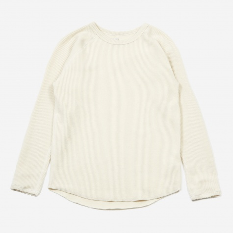 Knit Corduroy Crewneck - Off White