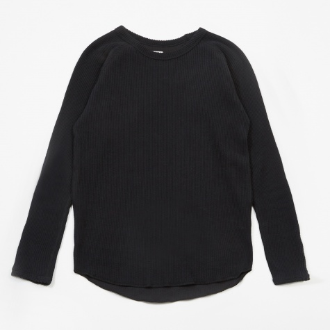 Knit Corduroy Crewneck - Black