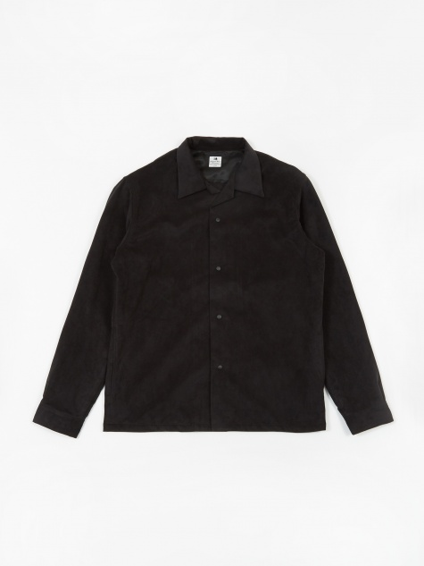 Ultrasuede Open Collar Shirt - Black