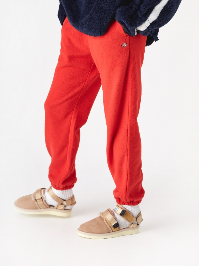 Stand Alone Cuffed Track Pant - Red (Image 1)