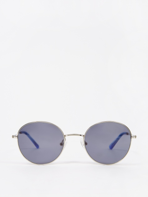 Ozzy Sunglasses - Silver/Silicon Valley Blue