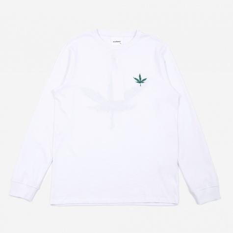 Cooper Embroidered Longsleeve T-Shirt - White