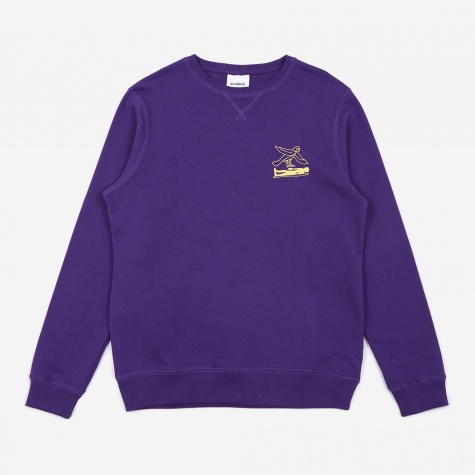 Fenster Printed Sweatshirt - Purple