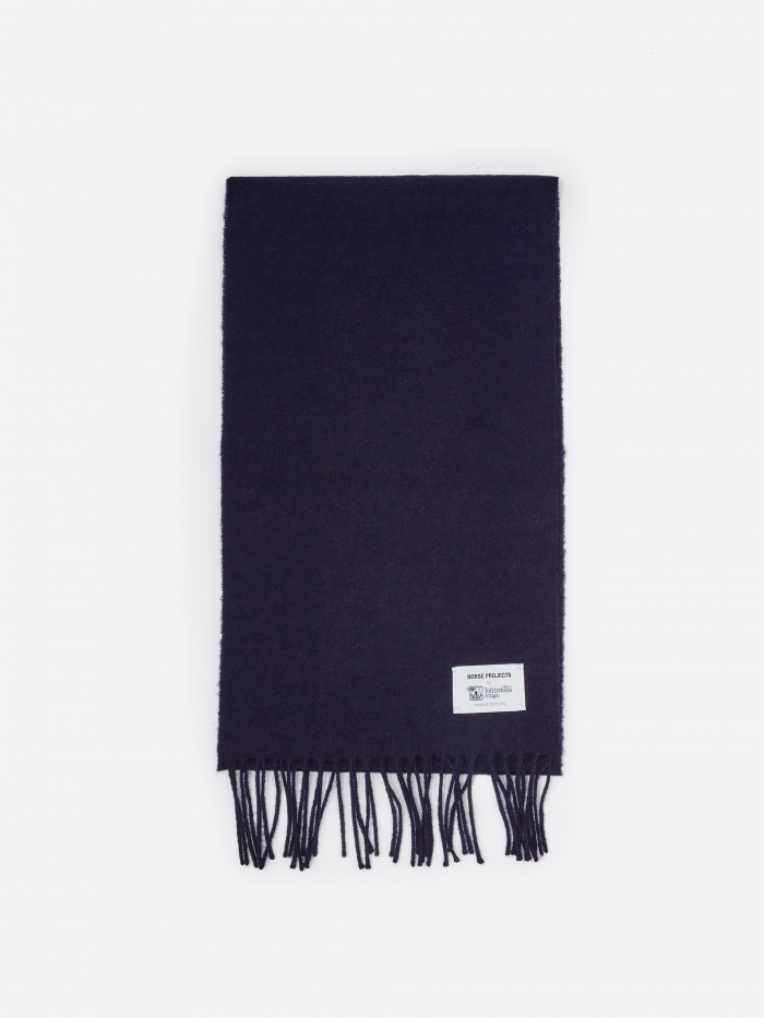 Norse Projects Norse x Johnstons Scarf - Dark Navy (Image 1)