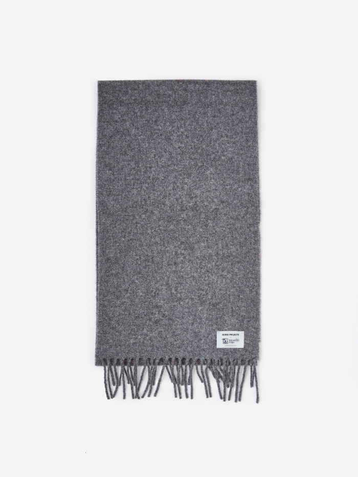 Norse Projects Norse x Johnstons Scarf - Magnet Grey (Image 1)