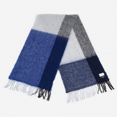 Fresia Check Scarf - Blue/Grey