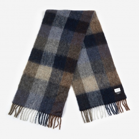 Fresia Check Scarf - Brown/Grey
