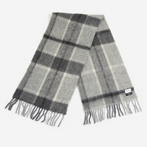 Fresia Check Scarf - Grey