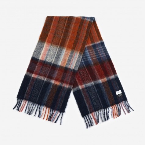 Fresia Check Scarf - Indigo/Red