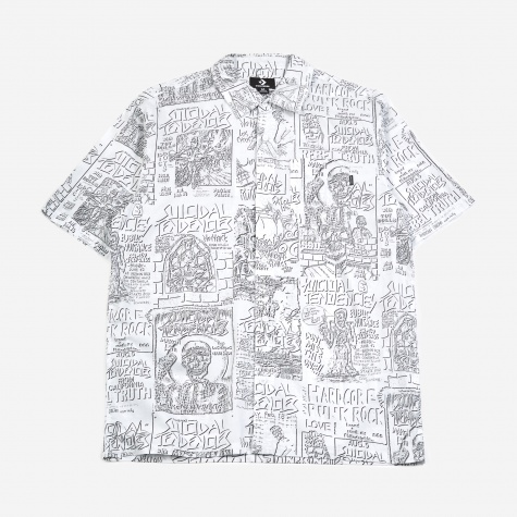 x Suicidal Tendencies Woven Shirt - White Multi