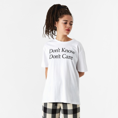 Don't Know Simple T-Shirt - White