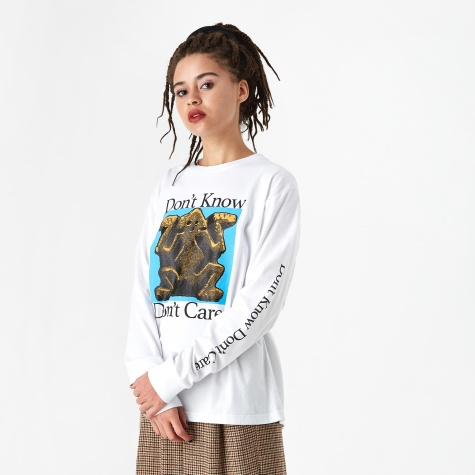 Don't Know Longsleeve T-Shirt - White