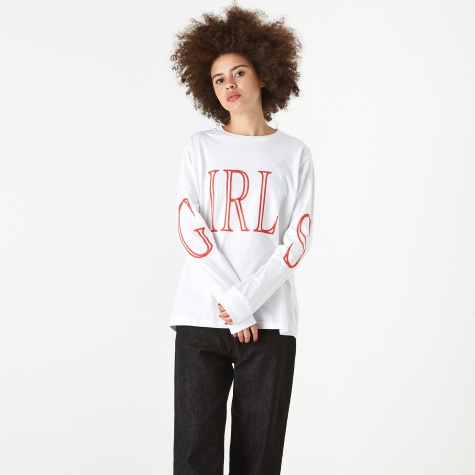 Girls Longsleeve T-Shirt - White