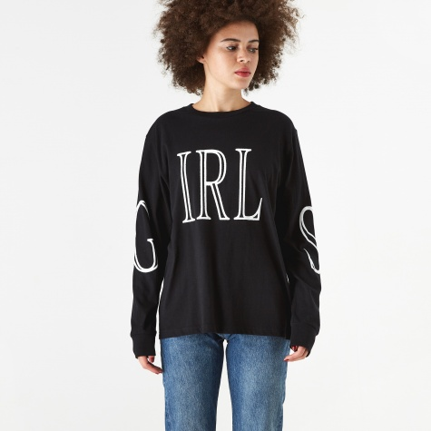 Girls Longsleeve T-Shirt - Black