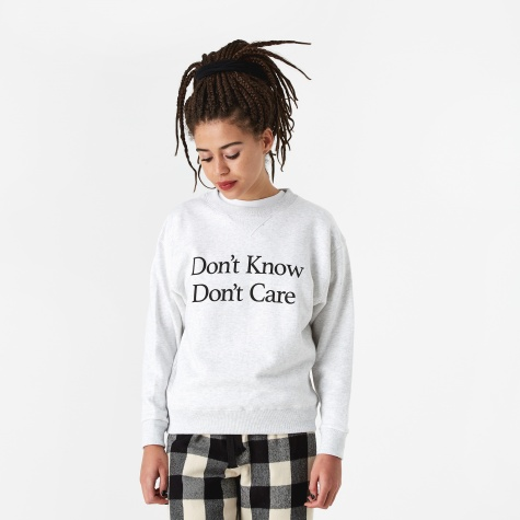 Don't Know Crewneck Sweatshirt - Grey
