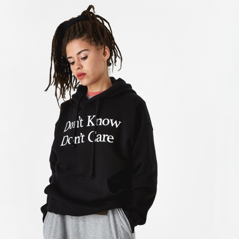 Don't Know Hooded Sweatshirt - Black