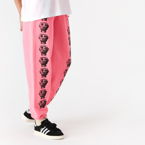 Stone Head Track Pant - Neon Pink