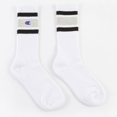 Socks - White/Pale Grey/Black