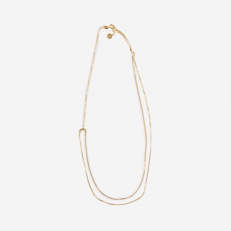 Helix Round Necklace - 18K Gold Plated