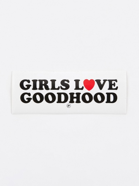 Girls Love Sticker - White