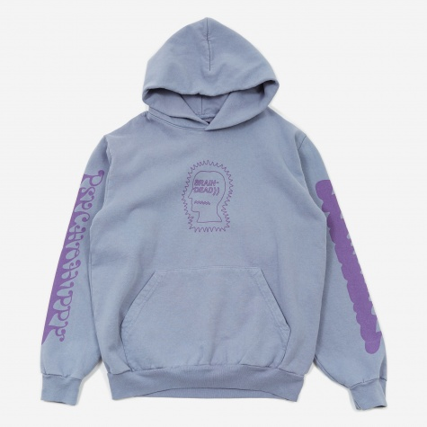 Psycho Hippie Hooded Sweatshirt - Washed Blueberry