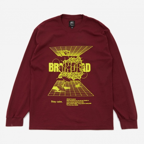 Orbit Longsleeve T-Shirt - Burgundy