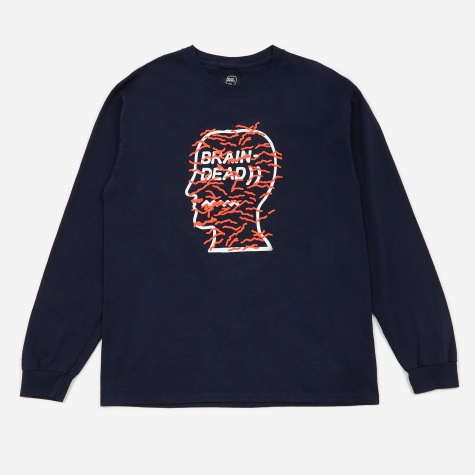 Infected Logo Longsleeve T-Shirt - Navy