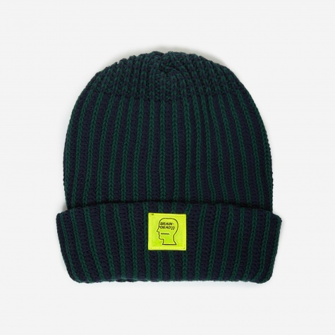 Logo Patch Beanie Hat - Navy/Forest