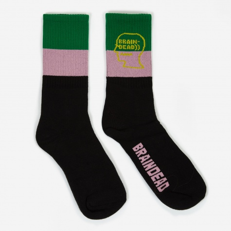 Logo Head Socks - Black