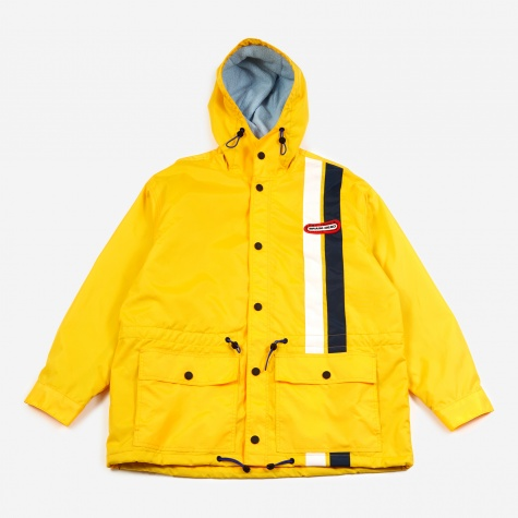 Hooded Racing Jacket - Yellow