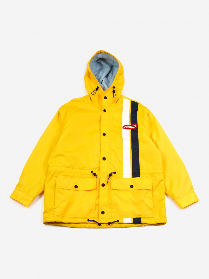 Hooded Racing Jacket   Yellow by Brain Dead