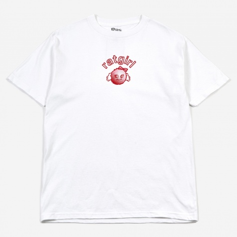 RatGirl Ball T-Shirt - White