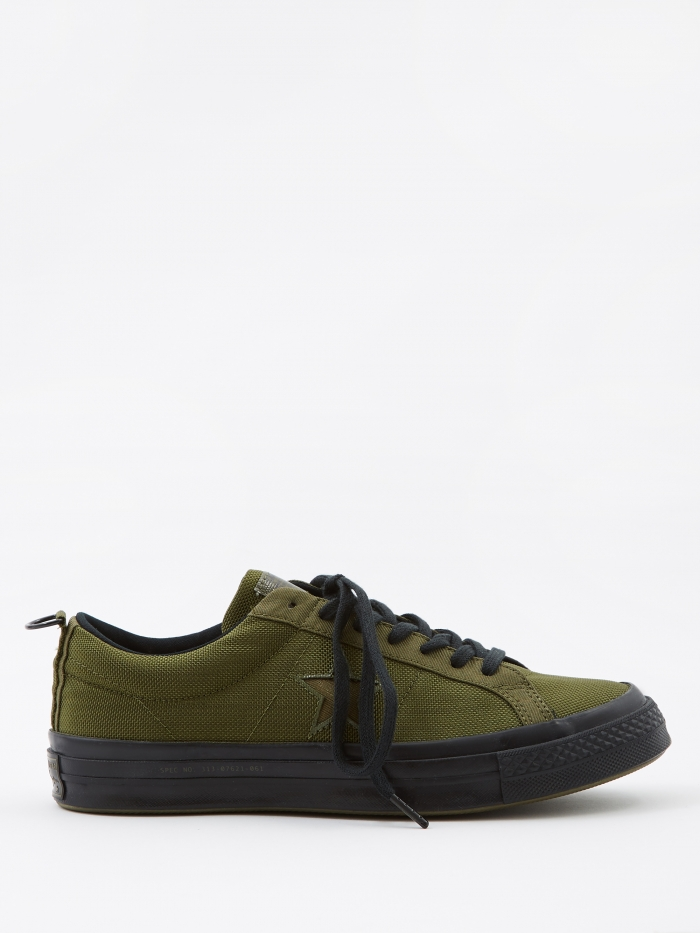 Converse x Carhartt WIP One Star - Herbal/Medium Olive/Black (Image 1)