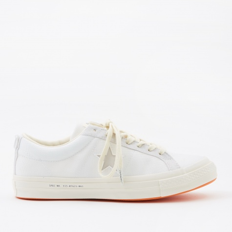 x Carhartt WIP One Star - White/White/Vibrant Orange