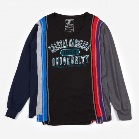 7 Cuts Longsleeve College T-Shirt Small - Assorted