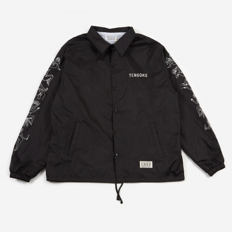 Nude Girl Coach Jacket - Black