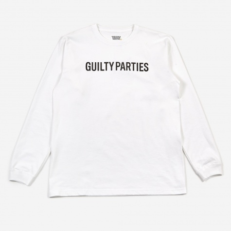 Crewneck Long Sleeve T-Shirt (Type-1) - White