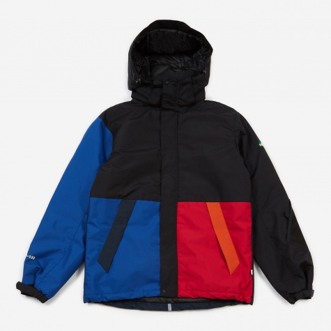 P100 Bike Jacket - Red/Blue Panel