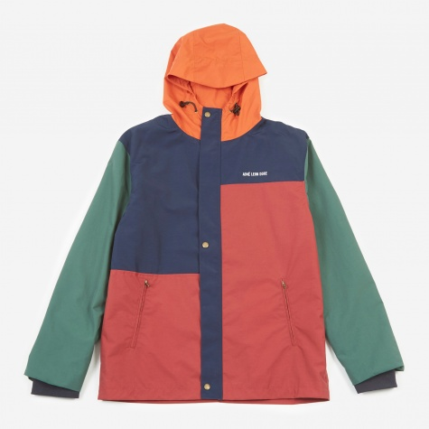 Blocked Parka - Green/Navy/Rust
