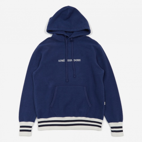 Reverse Fleece Hooded Sweatshirt - Navy