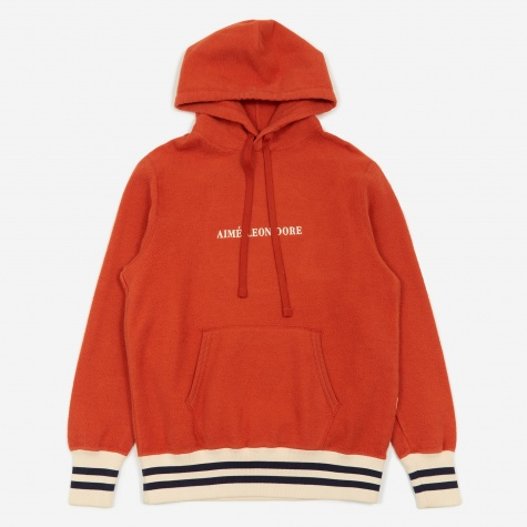Reverse Fleece Hooded Sweatshirt - Orange