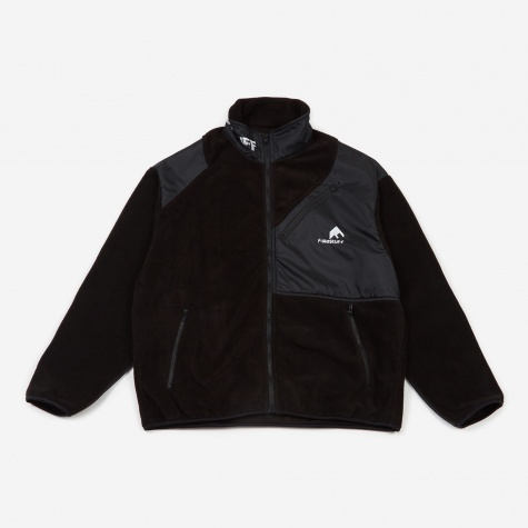 Light F/Z Fleece Jacket - Black/Black