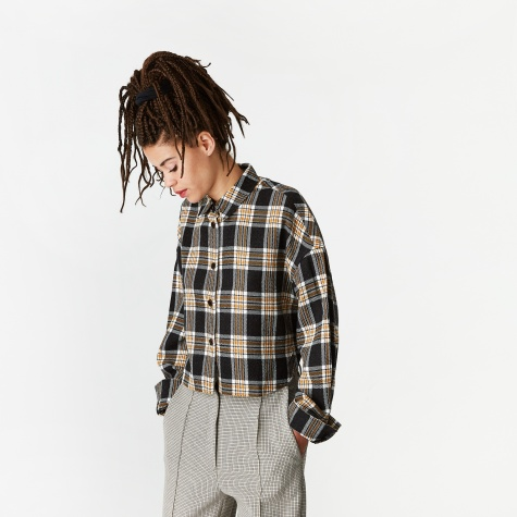 Check Spencer Shirt - Black Check